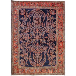 Sarouk antique rug blue - London, Sydney, Milano, Paris,