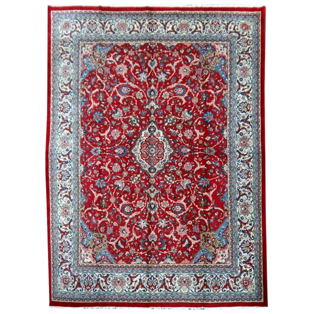 09717 Sarouk persian rug 12.6 x 9.8 ft / 385 x 300 cm