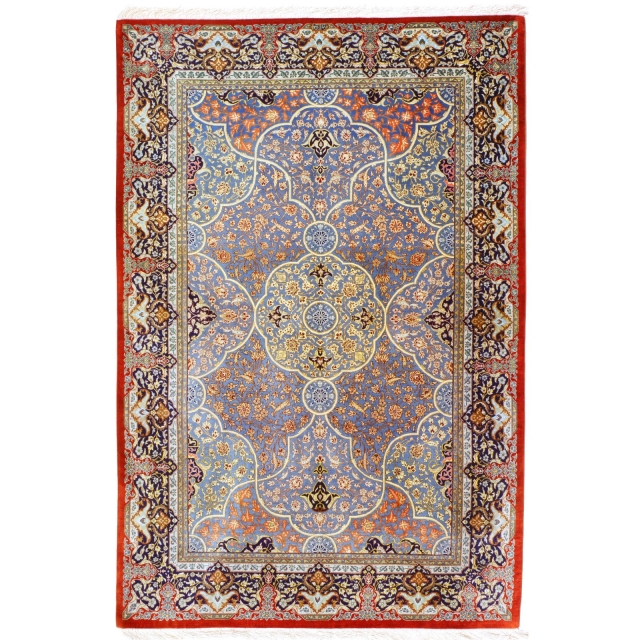 12233 Persian Qum Silk rug 6.4 x 4.4 ft - 195 x 132 cm
