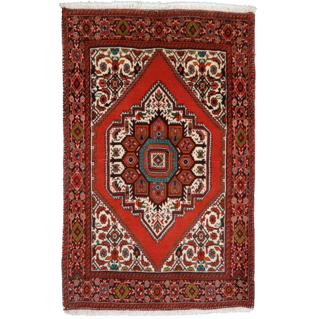 13617 Goltogh Bidjar Persian Rug 4.1 x 2.7 ft / 125 x 81 cm