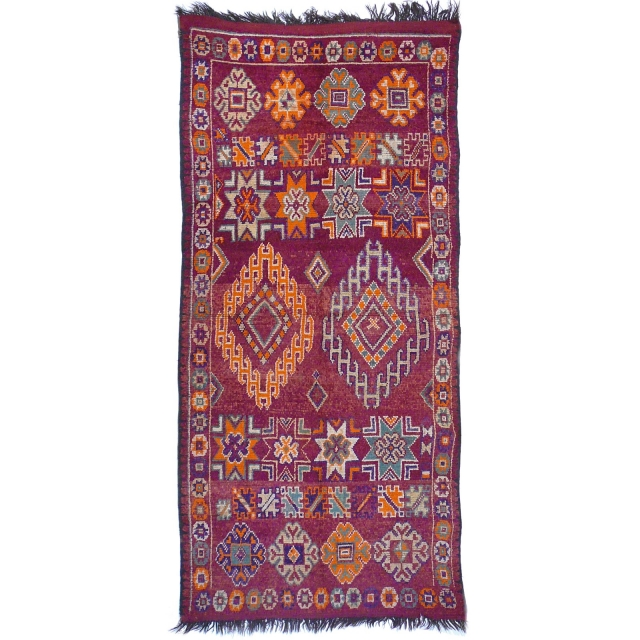 Boujad Berber Tepich alt vintage 310 x 140 Djoharian Teppiche