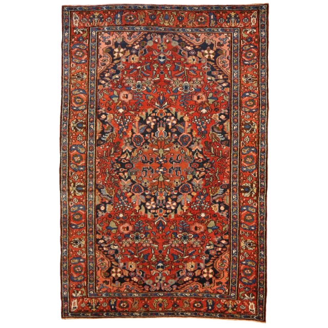 14189 Malayer vintage rug Iran / Persia 6.7 x 4.4 ft / 205 x 133 cm