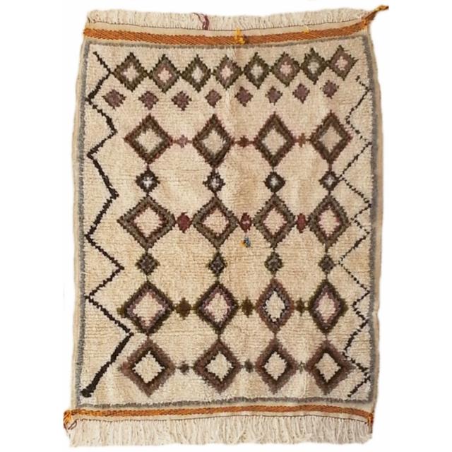 Azilal Berber Teppich Marokko Beni Ourain Motiv 170 x 130 cm