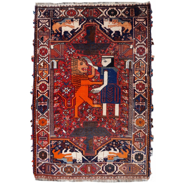 14949 Lion Wedding Rug 5.5 x 3.6 ft - 166 x 112 cm