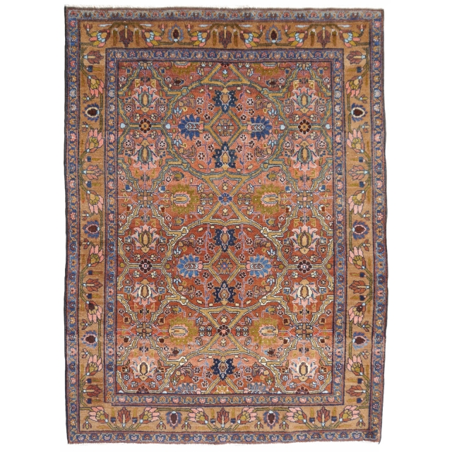 14788 Sultanabad antique rug 6.5 x 4.3 ft / 195 x 140 cm