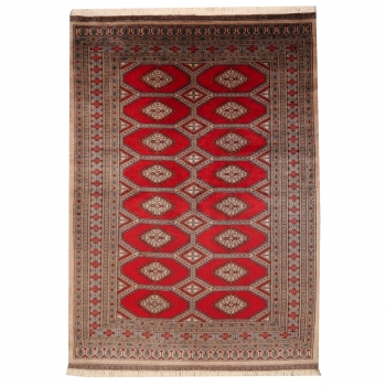 09021 Bokhara carpet hand-knotted 7 x 4.7 ft Bukhara from Pakistan