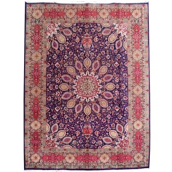 09567 Täbriz Teppich 380 x 306 cm vintage blau rot grün