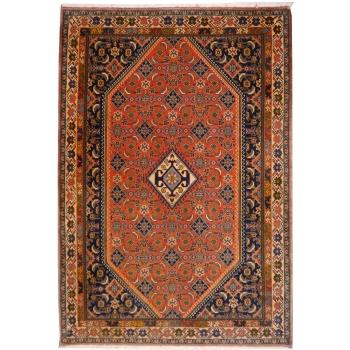 10058 Kashkuli Teppich Wolle Naturfarben 153 x 107 cm