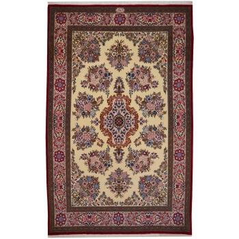 10476 Ghom Teppich Korkwolle handgeknüpft 223 x 140 cm