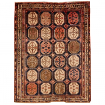 11328 Afshar Sirjan vintage rug 6.3 x 4.8 ft / 192 x 147 cm