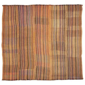 12150 Djadjim Teppich Kelim Decke alt 180 x 160 cm