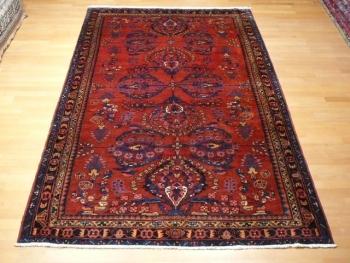 12208 Malayer Teppich alt 266 x 158 cm vintage