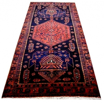 12210 Läufer Garus Bidjar Teppich alt 284 x 121 cm vintage