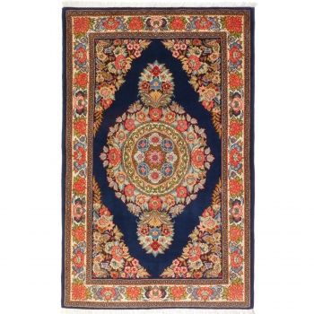 12254 Sarough Teppich blau beige rot vintage 219 x 139 cm