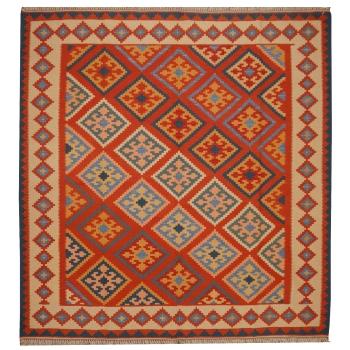 12517 Kelim Teppich Nomadenteppich 149 x 141 cm