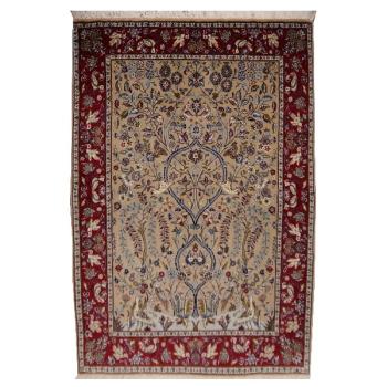 13058 Kaschan Shadsar Teppich 150 x 110 cm handgeknüpft