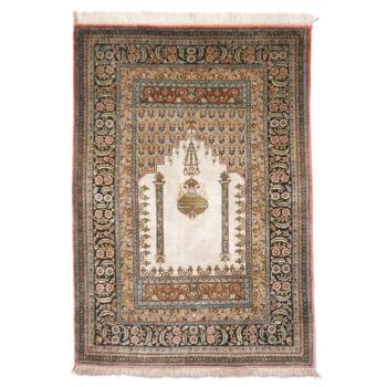 13187 Ghom Seide Gebetsteppich 158 x 105 cm Seidenteppich
