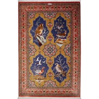 13190 Qum Silk rug 5.0 x 3.3 ft / 153 x 100 cm