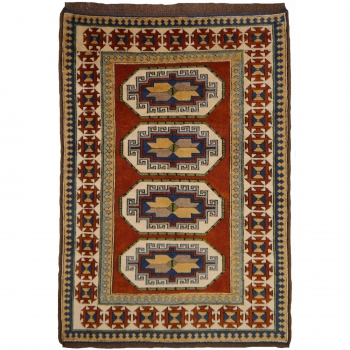 13395 Kazak Kars Teppich Türkei 193 x 135 cm vintage
