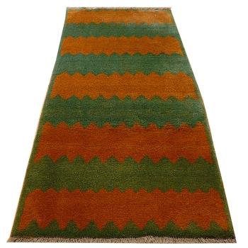 13491 Gabbeh Kazerun rug vintage 7.8 x 3.5 ft / 238 x 107 cm