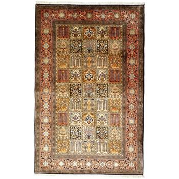 13585 Kaschmir Seide Teppich Indien 183 x 123 cm