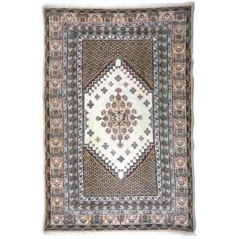 13820 Kayroan vintage rug Tunesia 9.7 x 6.4 ft / 297 x 195 cm beige, caramel, brown