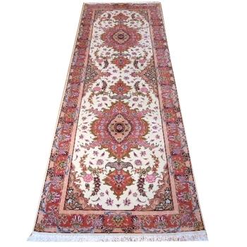 13918 Täbriz Teppich Läufer293 x 89 cm Korkwolle Seide 50 Raj