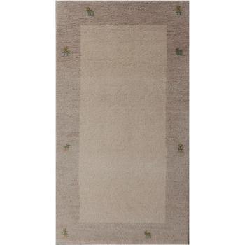 14041 Gabbeh Loribaft Teppich Indien 163 x 91 cm Wolle Beige