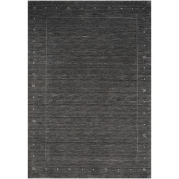 14071 Loribaft Teppich Indien 180 x 120 cm Anthrazit Grau