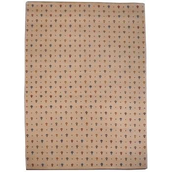 14338 Loribaft Teppich Indien 236 x 170 cm beige Wolle