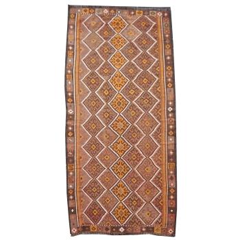 14458 Kelim vintage Teppich Afghanistan 363 x 153 cm