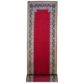 14468 Kirman roter Teppich vintage 505 x 150 cm