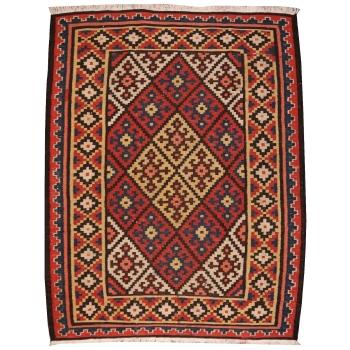 14594 Kilim 4.8 x 3.5 ft / 147 x 107 cm Shah Savan vintage rug