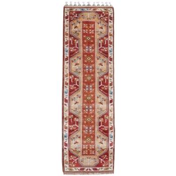 14608 Oushak Vintage Teppich Türkei 273 x 78 cm