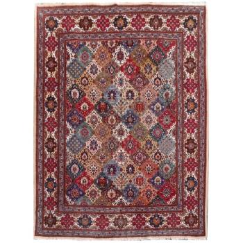 15368 Täbriz Teppich 405 x 310 cm Wolle Design Grün Beige Rot