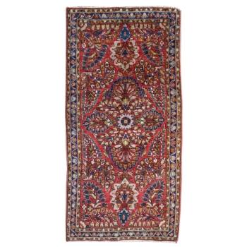 15413 Sarough alt antik Teppich 120 x 60 cm US Re-Import Wolle