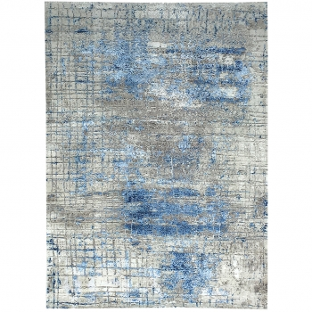 15494 Modern Design Rug Anastasia hand knotted 8.0 x 5.6 ft abstrakt Wool Viscose