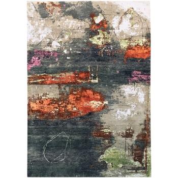 15498 Modern Design Rug Anastasia hand knotted 8.0 x 5.6 ft abstrakt Wool Bamboo Silk