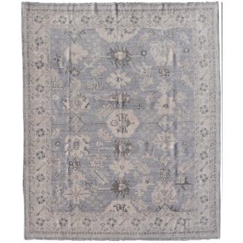 15533 Oushak Teppich Ziegler Arijana Grau Beige Blau Wolle Vintage Look 300 x 250 cm