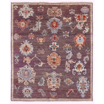 15637 Ziegler Teppich 300 x 250 Oushak Design Purple Beige Wolle