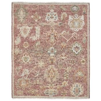 15644 Ziegler Teppich 300 x 250 Oushak Design Rot Beige Wolle