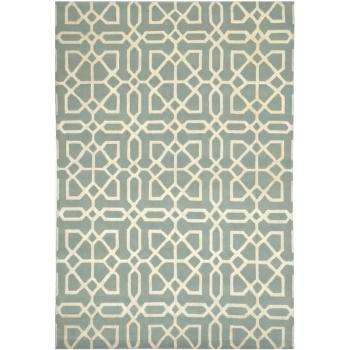 15735 Designerteppich MYSTIQUE 280 x 190 handgeknüpft Mosaik