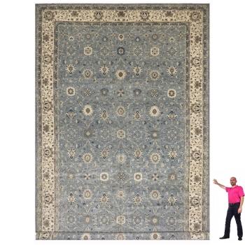 15819 Oversized Farahan Ziegler Palace Size Rug 28.4 x 13.10 ft blue beige