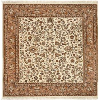 15135 Akbar Tabriz Rug beige brown square 8.2 x 8.2 ft