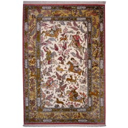 Persian Rug Qum Silk Hunting