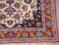 Preview: Isfahan Esfahan rug 3.4 x 2.5 ft / 102 x 76 cm Red Beige Wool Silk Persian Isfahan / Esfahan hand knotted rug. Very fine quality, about 650 kpsi. Kurkwool and silk pile and pure silk warp and weft.