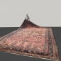 Preview: 15199 Sarouk oversized antique rug 21 x 13 ft / 645 x 390 cm pink rose blue green