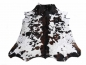 Mobile Preview: 15224 Cowhide Rug XL Premium 8.3 x 7.0 ft cm Tricolor White Brown Black