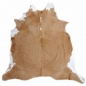 Mobile Preview: 15229 Cowhide Rug XL Premium 7.8 x 7.0 ft cm Caramel White