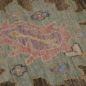 Preview: 15576 8 x 10 ft Oushak Rug Vintage Look hand knotted Brown Blue Pink Wool